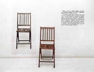 """Joseph Kosuth, """"One and Three Chairs"""" (1965)"""