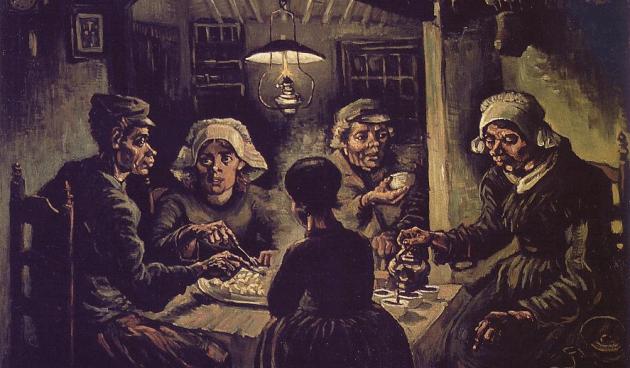 Vincent Van Gogh, I mangiatori di patate (1885), Olio su tela - 82x114 cm-, Museo Van Gogh di Amsterdam