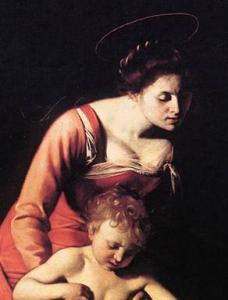 Madonna dei Palafrenieri (particolare), Caravaggio