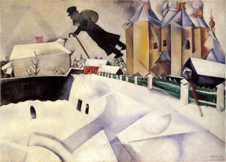 Su Vitebsk» di Marc Chagall   Opere d'arte spiegate bene