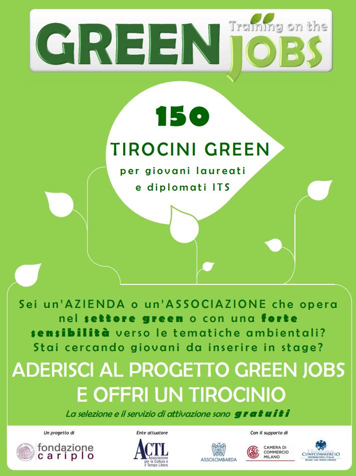 Greenjobs, fondazione Cariplo