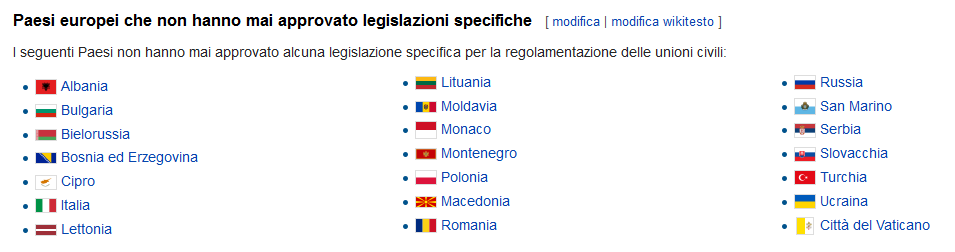 unioni civili lista