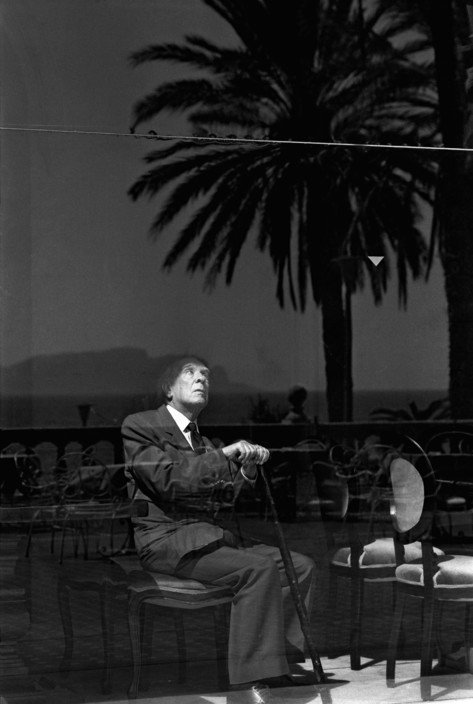 ITALY. Sicily. Palermo. 1984. Jorge Luis BORGES, Argentinian writer.