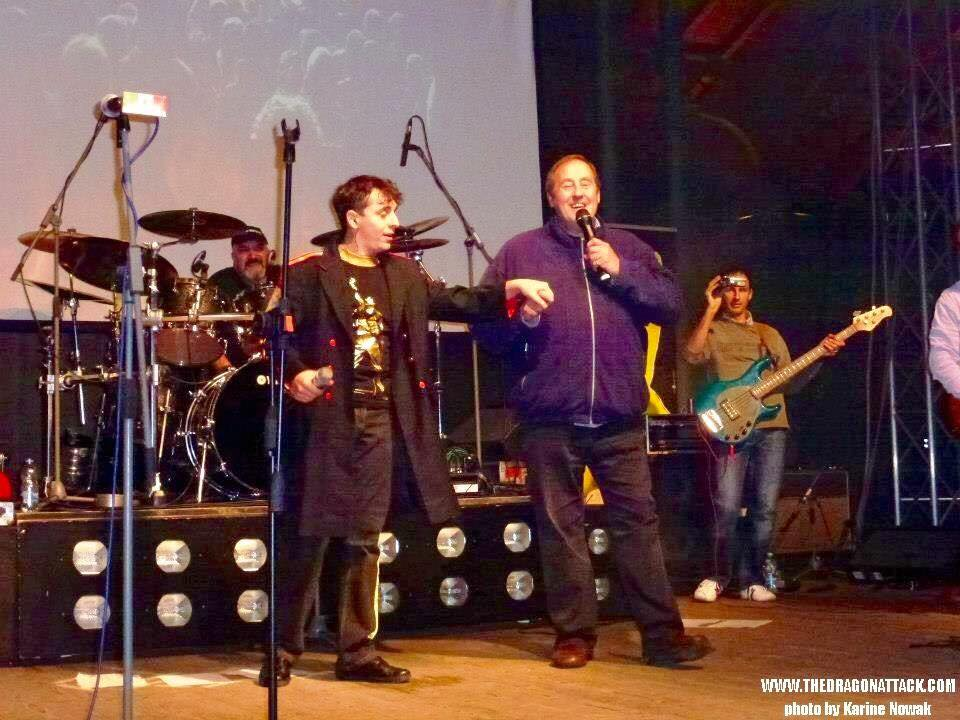 The Dragon Attack sul palco dell'FMMD con Peter Freestone. Foto di Karine Nowak