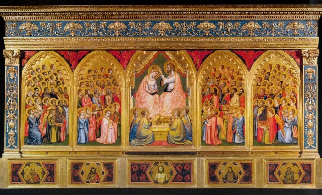 Polittico Baroncelli, Giotto e Taddeo Gaddi, 1328, tempera e oro su tavola, Basilica di Santa Croce, Firenze