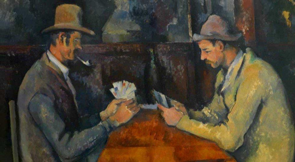 I giocatori di carte, Paul Cézanne, 1890-1895, olio su tela, Musée d'Orsay, Parigi