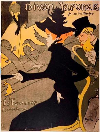 Divan Japonais, Henri de Toulouse-Lautrec, 1892, litografia