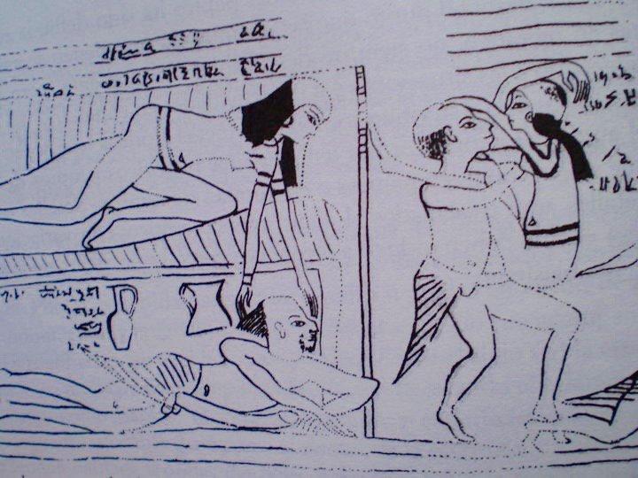 Ricostruzione di una parte del Papiro di Torino