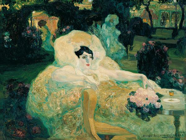 Il pavone bianco, Hermen Anglada Camarasa, 1904, olio su tela, Colección Carmen Thyssen-Bornemisza