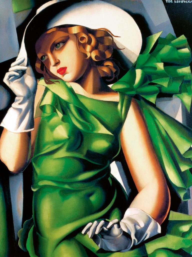Ragazza in verde, Tamara de Lempicka, 1932, Musée National d'Art Moderne, Centre Georges Pompidou, Parigi