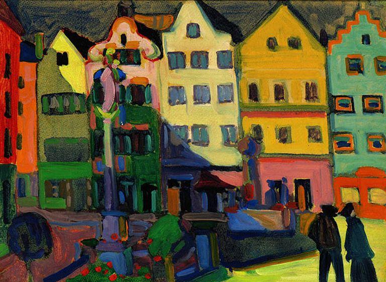 Vassilij Kandinskij, Weilheim-Marienplatz 1909