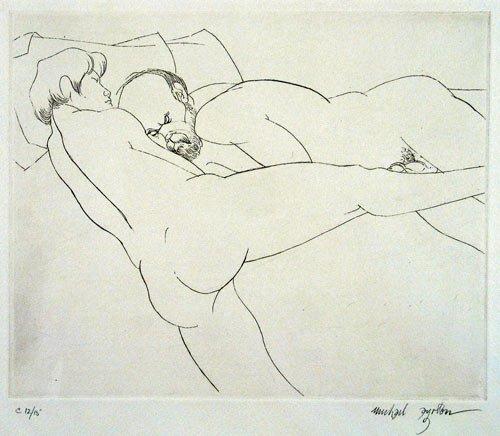 "Michael Ayrton, (1921-1975), Illustration for the suite ""Femmes/Hombres"" by Paul Verlaine, 1971"