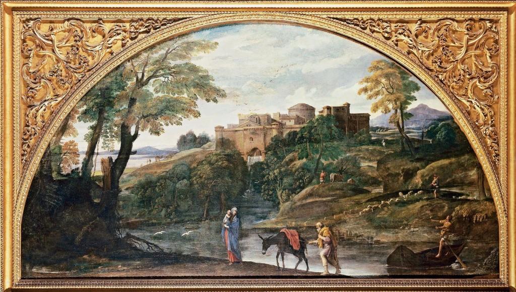 Annibale Carracci, Paesaggio con la fuga in Egitto