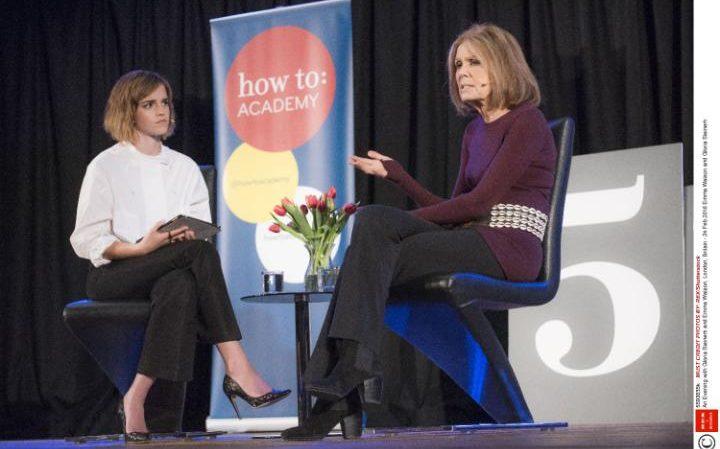 Emma Watson and Gloria Steinem, Credit: Rex Shutterstock.