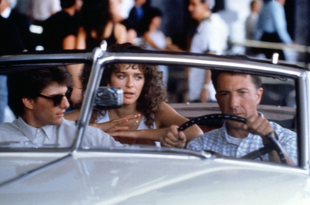 "Valeria Golino con Tom Cruise e Dustin Hoffman in ""Rain Man"" (1988)"