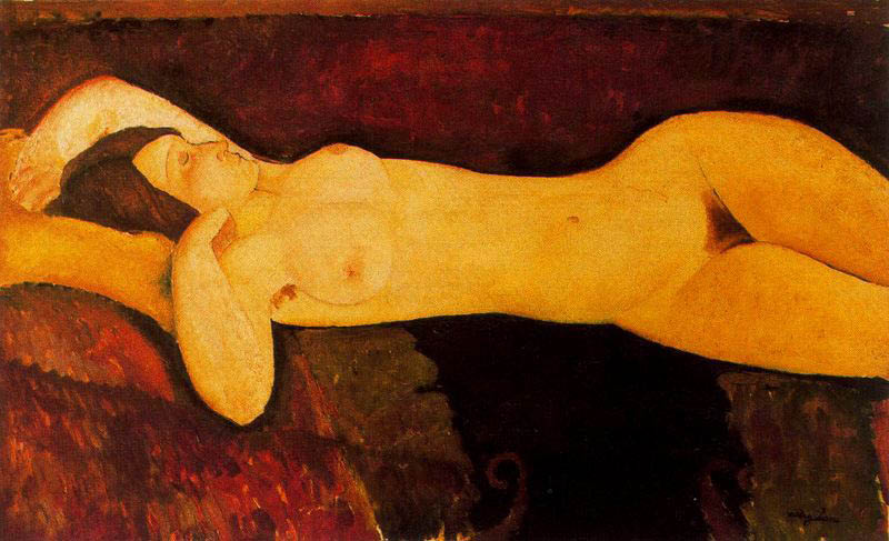 Amedeo Modigliani, Reclining Nude (Nudo disteso), ca 1919. Museum of Modern Art, New York
