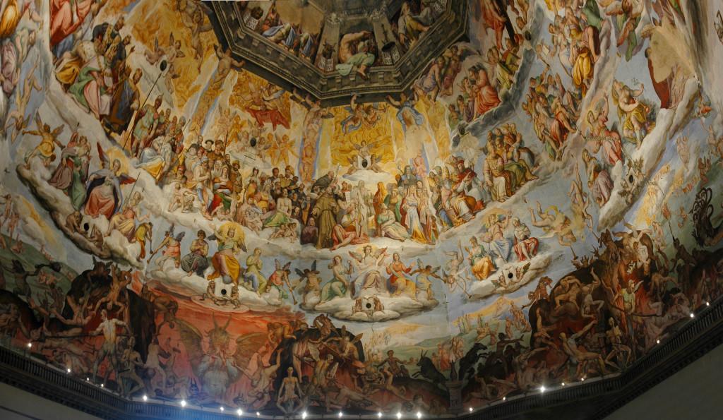 Affresco all'interno della cupola di Brunelleschi, Santa Maria del Fiore.