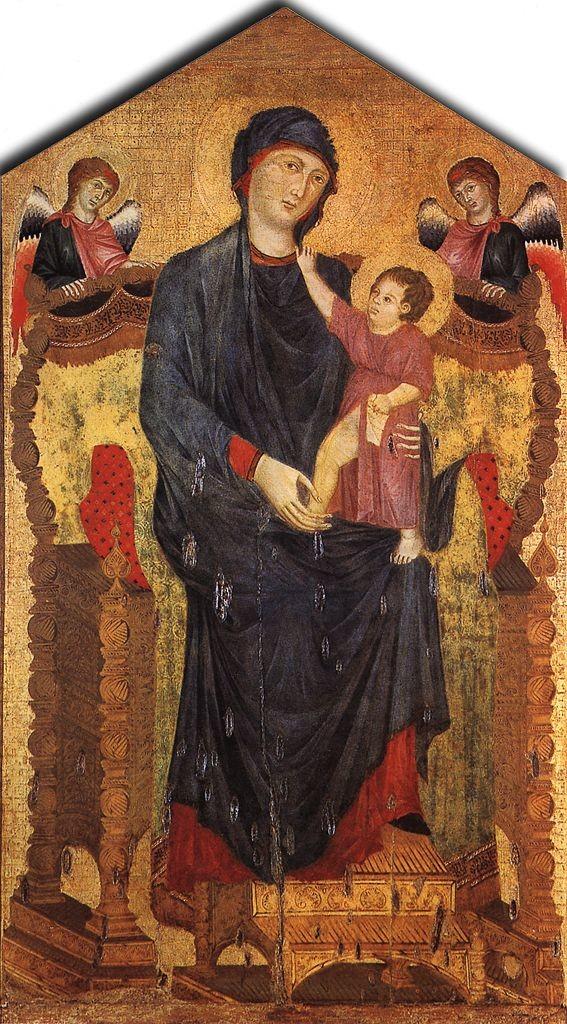 Maestà di Santa Maria dei Servi, oro e tempera su tavola, 218x118 cm