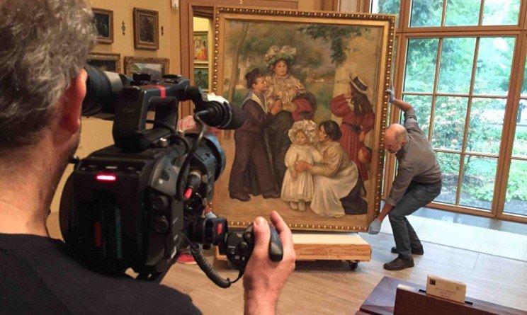 Sul set del film Renoir - oltraggio e seduzione