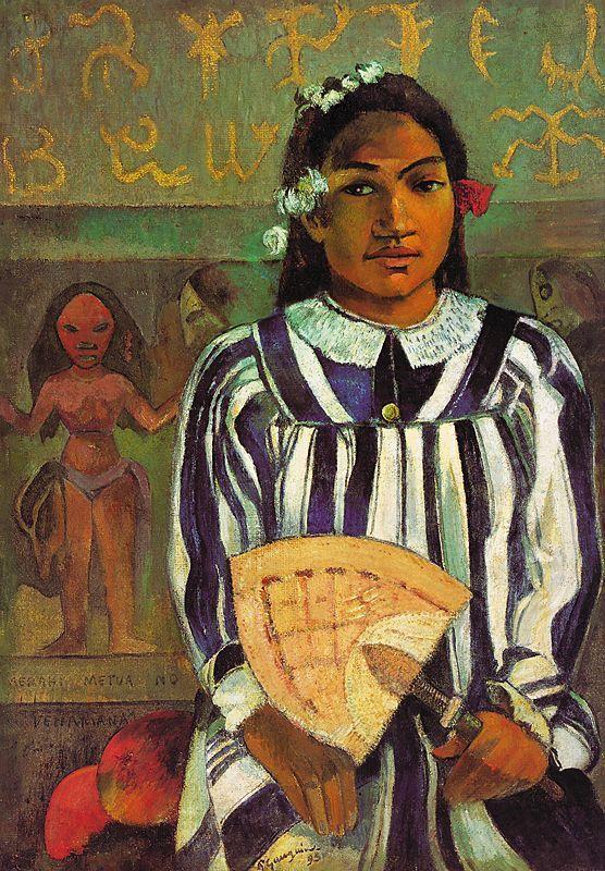 """""""Gli antenati di Tehamana"""" <br>di Paul Gauguin: una riscoperta <br>armonia del mondo"""
