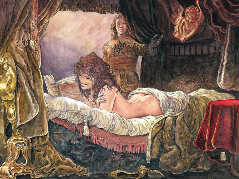 """Seduzione, furbizia e ironia:<br> La Fontaine dipinto da Manara  <br>nella raccolta """"Favole Libertine"""""""