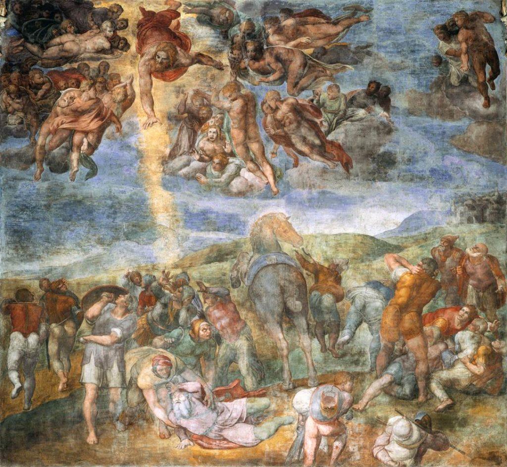 Conversione di Saulo, Michelangelo Buonarroti, 1542-1545, affresco, Cappella Paolina, Palazzi Vaticani, Città del Vaticano