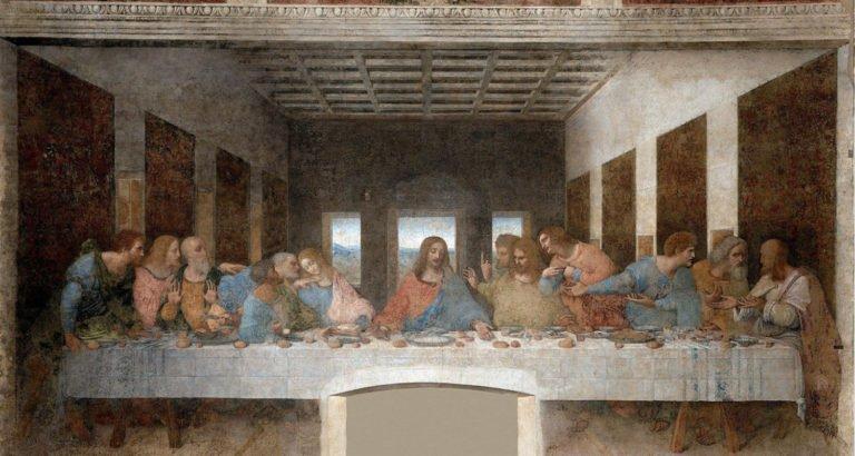 """Ritrovata la sala usata <br>da Leonardo da Vinci <br>come set de l'""""Ultima cena"""""""