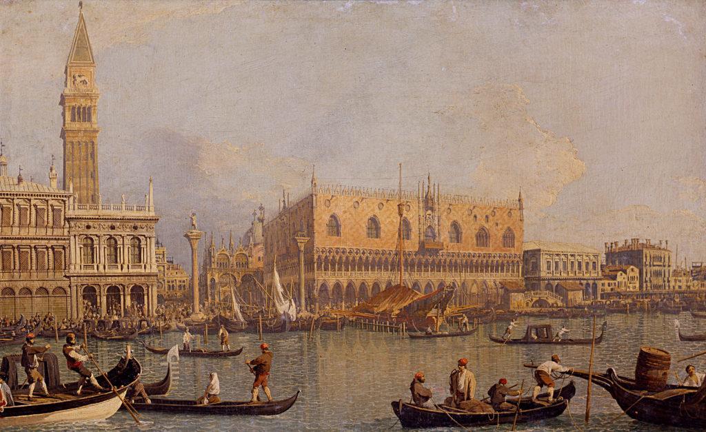 """Canaletto, """"Veduta del Palazzo Ducale di Venezia"""""""