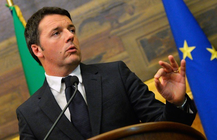 "Newly nominated Italian Prime Minister Matteo Renzi gives a press conference on February 19, 2014 after consulting several Italian parties on forming a new government, at Montecitorio Palace, the Italian Chamber of Deputies, in Rome. Italy's centre-left leader Matteo Renzi was nominated to be the European Union's youngest prime minister on February 17 and immediately outlined an ambitious reform plan, promising ""energy, enthusiasm and commitment"" to revitalise the eurozone's third largest economy. Renzi said he intends to formally accept the position of prime minister on February 22, ahead of a confidence vote in his new government. AFP PHOTO / ANDREAS SOLARO (Photo credit should read ANDREAS SOLARO/AFP/Getty Images)"