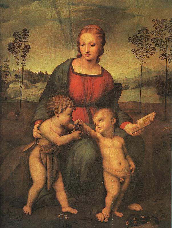 """""""Madonna del cardellino"""" Raffaello. Fonte: www.bilanciozero.net"""