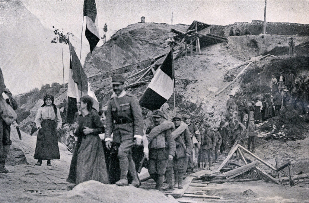 Soldati italiani a Vittorio Veneto Fonte: www.storiaememoriadibologna.it