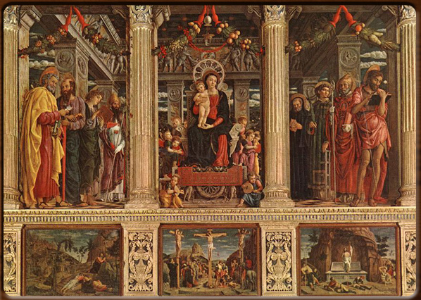 """La """"nuova prospettiva"""" nella Pala di San Zeno del Mantegna"""