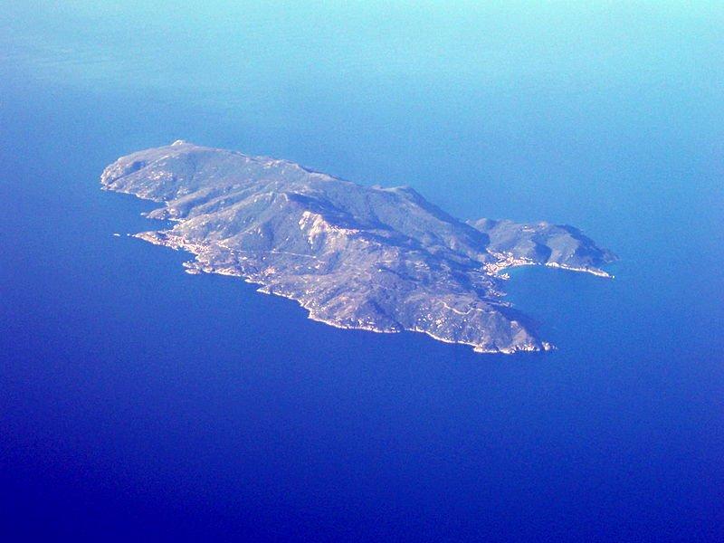 Isola del Giglio aerea