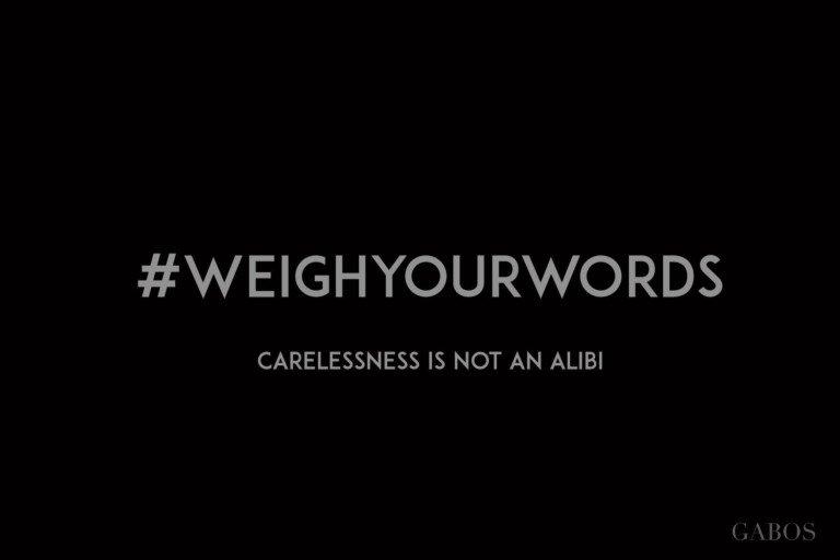 #weighyourwords contro la violenza psicologica alla comunità LGBTQIA+