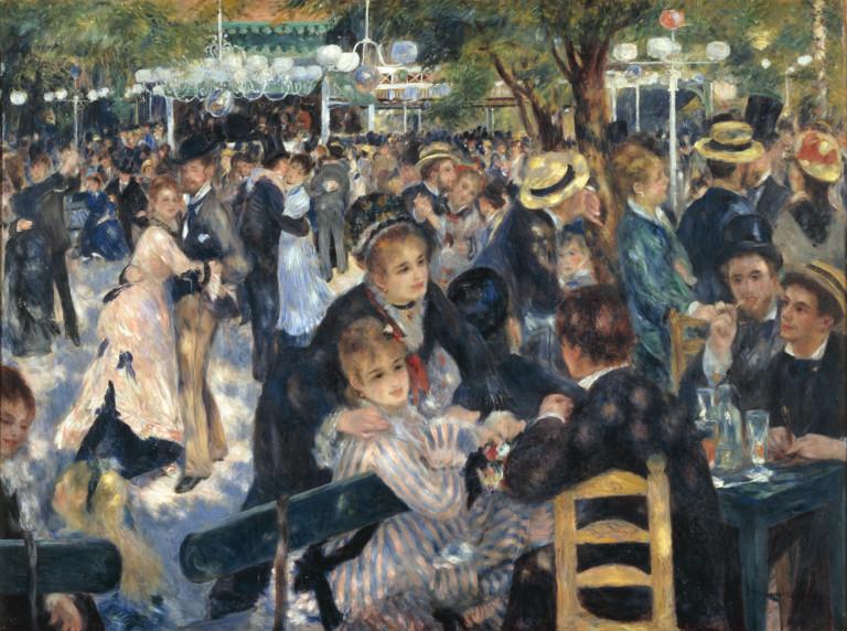 «Bal au Moulin de la Galette» di Renoir, a metà tra pittura e fotografia