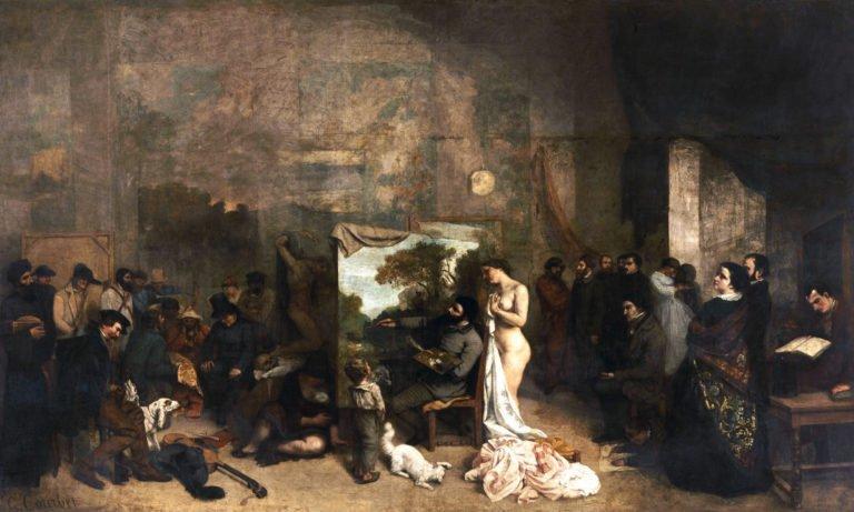 «L'atelier del pittore» di Courbet: un'allegoria reale