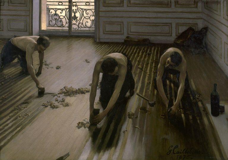 «I piallatori di parquet», il realismo borghese di Caillebotte